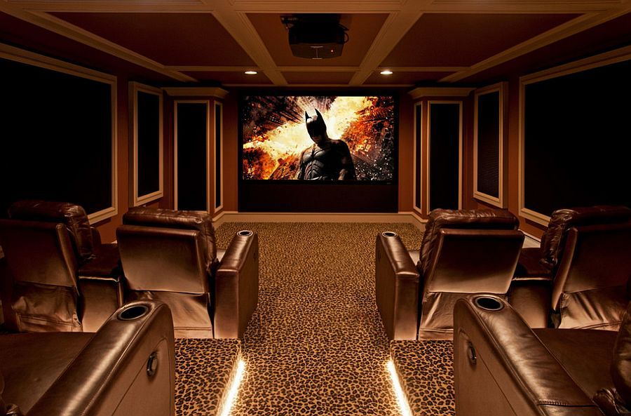 10 Awesome Basement Home Theater Ideas Acoustic panels Rope