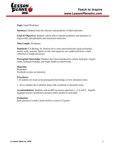 Lipidwspdf Organic Nomenclature Alkenes And Alkynes