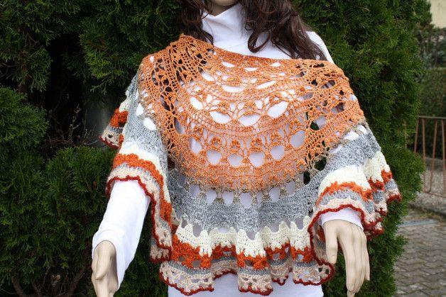 #Mode #Accessoires #Tuch #Wolle #handmade #gehäkelt Hier ein Exemplar der Kollektion Tücher: dieses Mal ein besonders edles und elegantes Exemplar. Ich habe 150 g Verlaufswolle Merino Twin und...