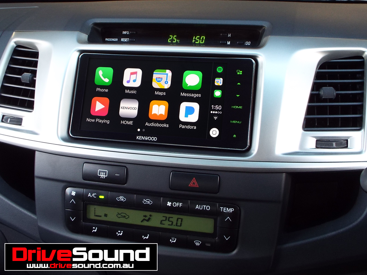 Toyota Hilux with Apple CarPlay installed by DriveSound