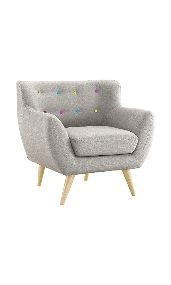 Mid Century Modern Style Sofa / Love Seat Red, Grey, Yellow, Blue - 1 Seat, 2 Seat, 3 Seat (Grey w/ Assorted Colored Buttons, 1 Seater)  Deal Price : 159.99  Buy From Amazon : https://goo.gl/6BLXvm