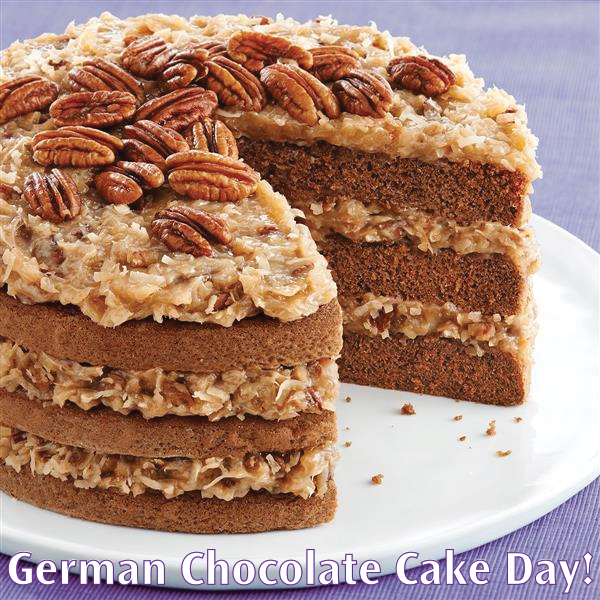 Happy National German Chocolate Cake Day With Images German Chocolate Cake Recipe Easy German Chocolate Cake Homemade German Chocolate Cake
