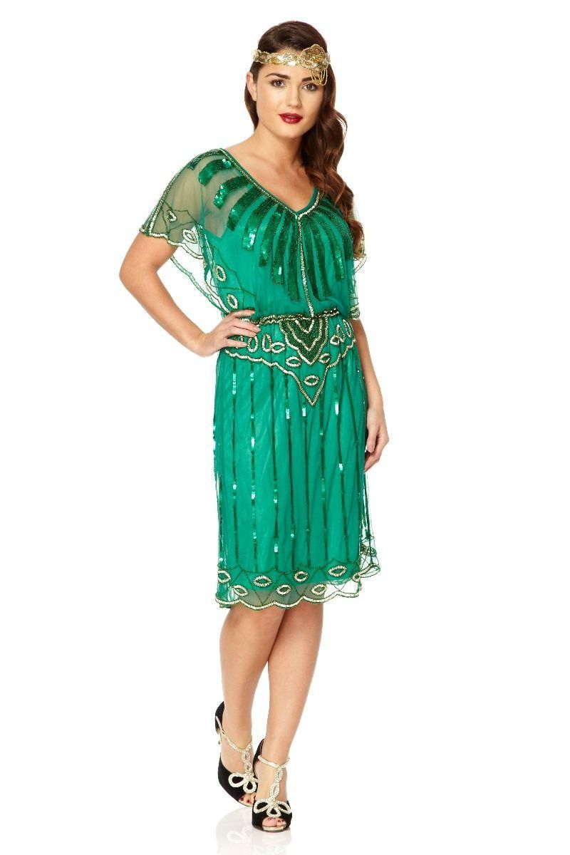 Roaring Twenties Inspired Dress in Green - SOLD OUT | Roaring ...