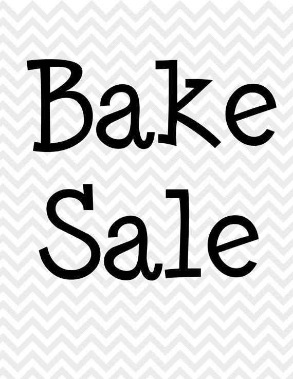 black-and-white-bake-sale-sign Bake sales Pinterest Bake - bake sale flyer