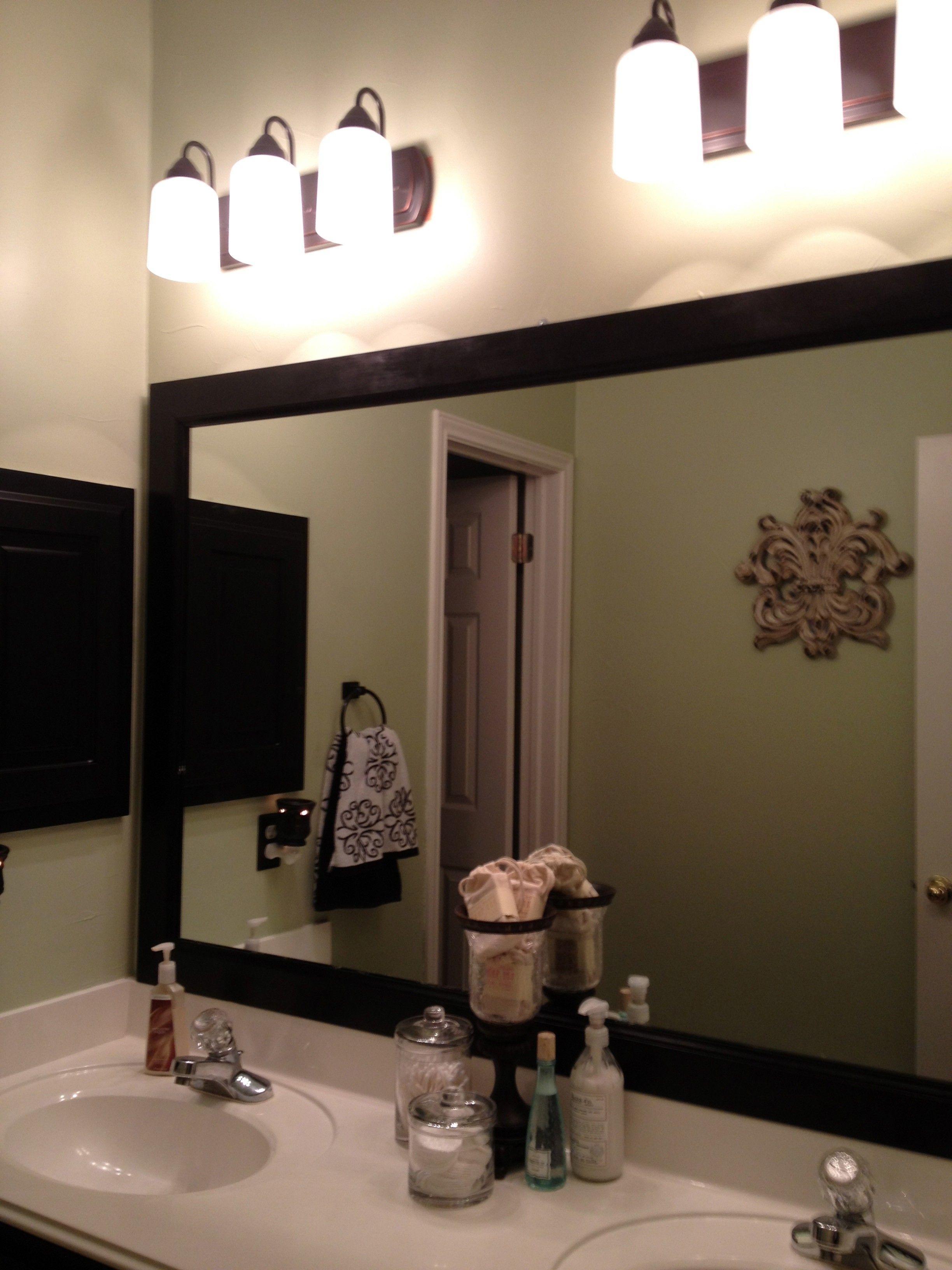 Bathroom Bathroom Rectangular Black Framed Mirror For Bathroom