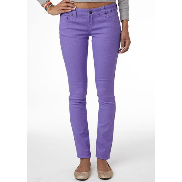 Britt Low-Rise Skinny Color Jean Dahlia (£7.54) ❤ liked on Polyvore featuring jeans, pants, bottoms, skinny jeans, skinny, super stretchy skinny jeans, super low rise skinny jeans, low rise jeans and denim skinny jeans