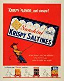 #10: 1956 Ad Sunshine Krispy Saltine Crackers Snack Cowboy Hydrox Cookies Cheez It  Original Print Ad