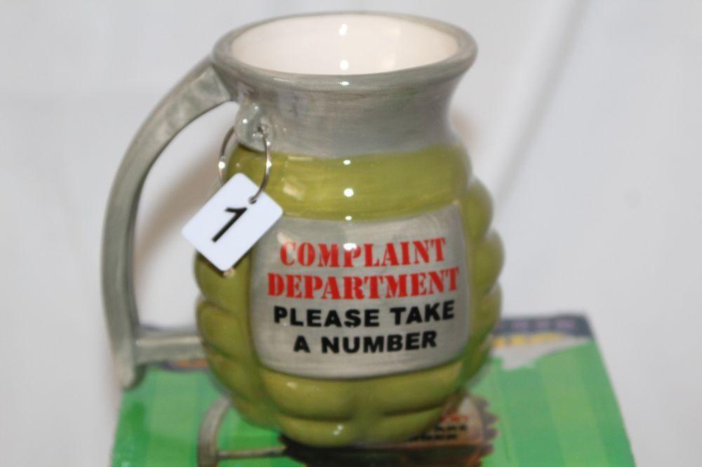Man Cave Gag Gifts : Ceramic novelty grenade coffee mug prank gun military party gag gift