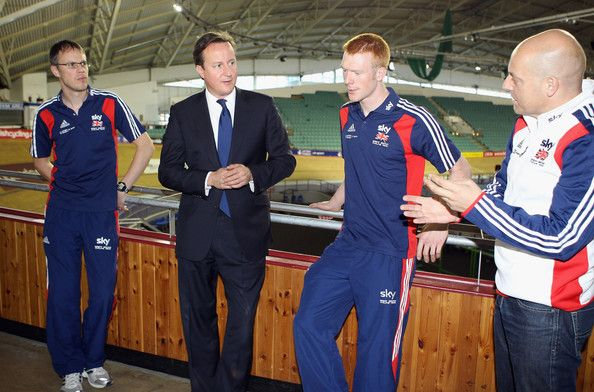 Dave Brailsford David cameron, Paul Manning, Ed Clancy Photo - Prime Minister David Cameron Visits A Sports Centre In Manchester