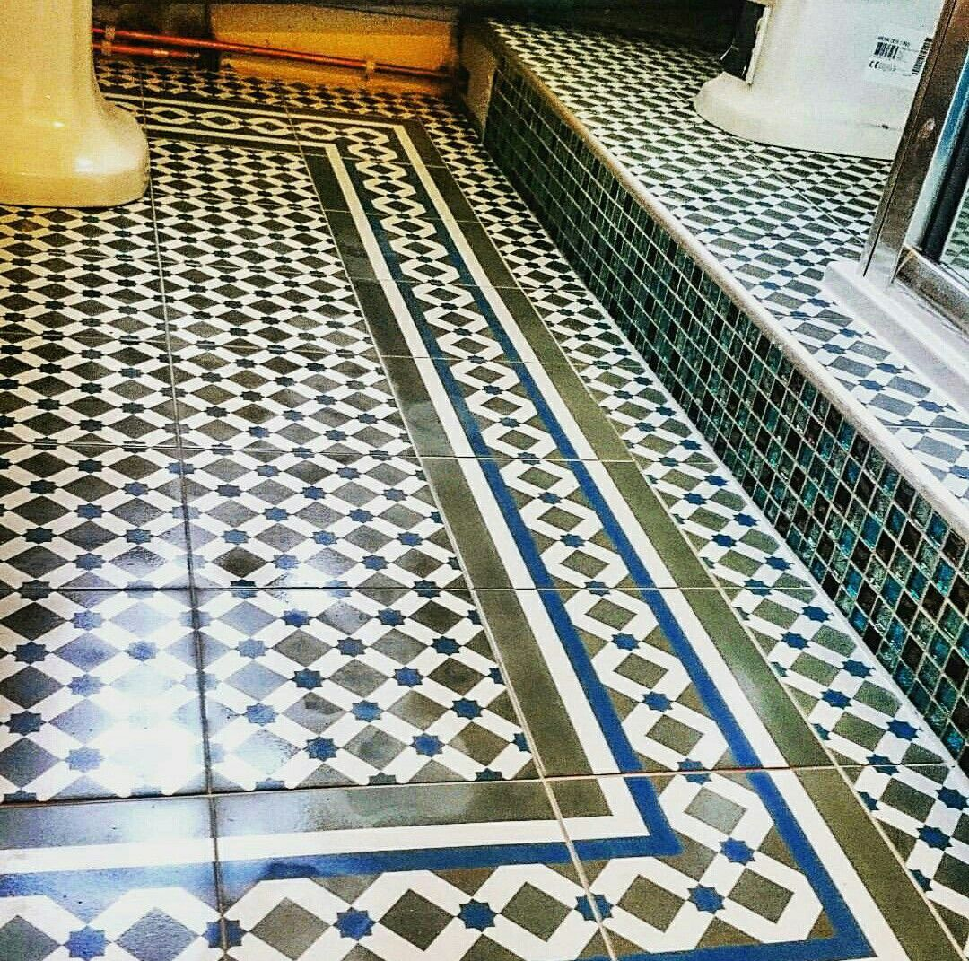 Henley tile with border floor tile ideas pinterest henleys henley tile with border dailygadgetfo Images