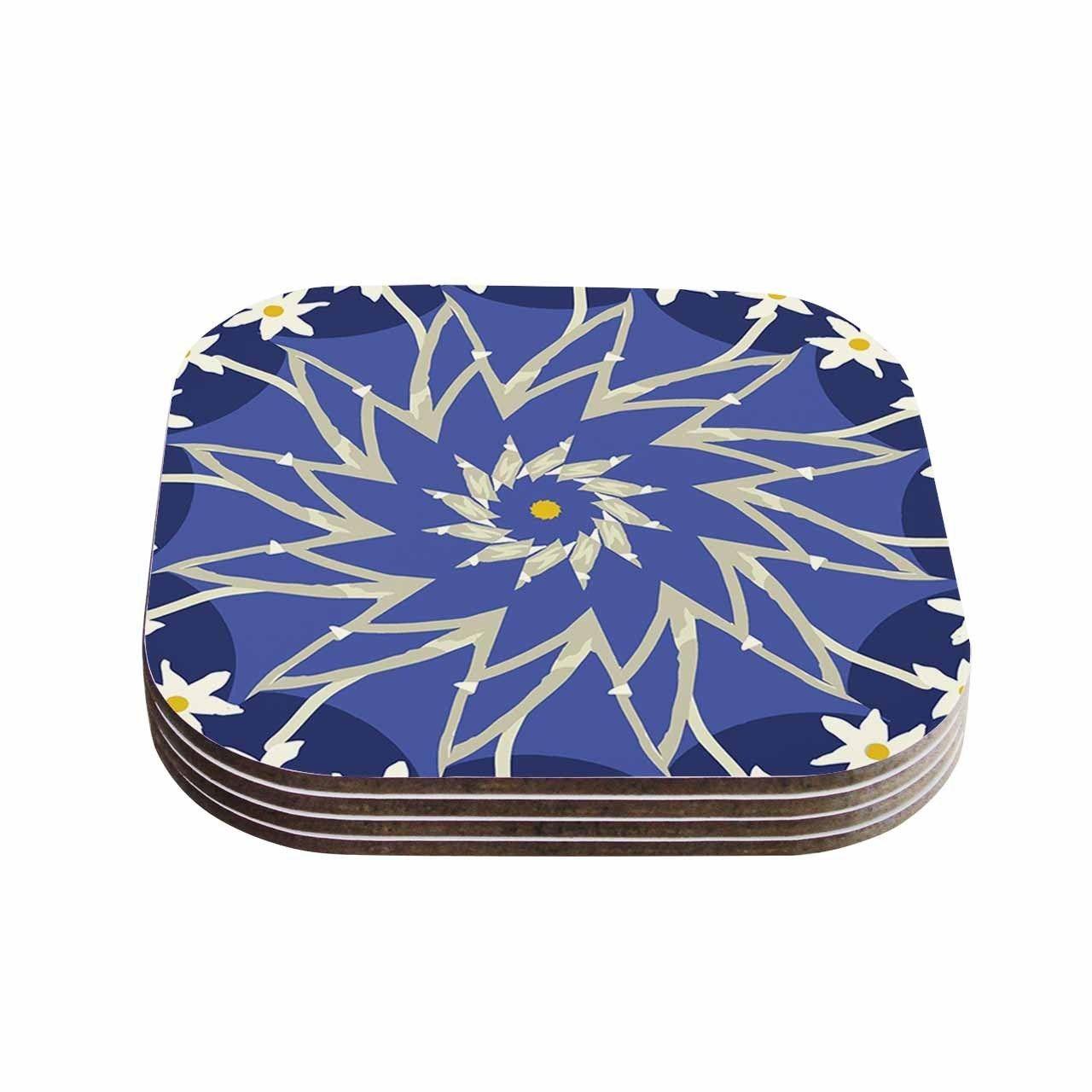 Kess InHouse Laura Nicholson 'Sawtooth Flower' Nature Coasters
