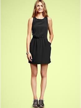 Simple Black Tank Dress