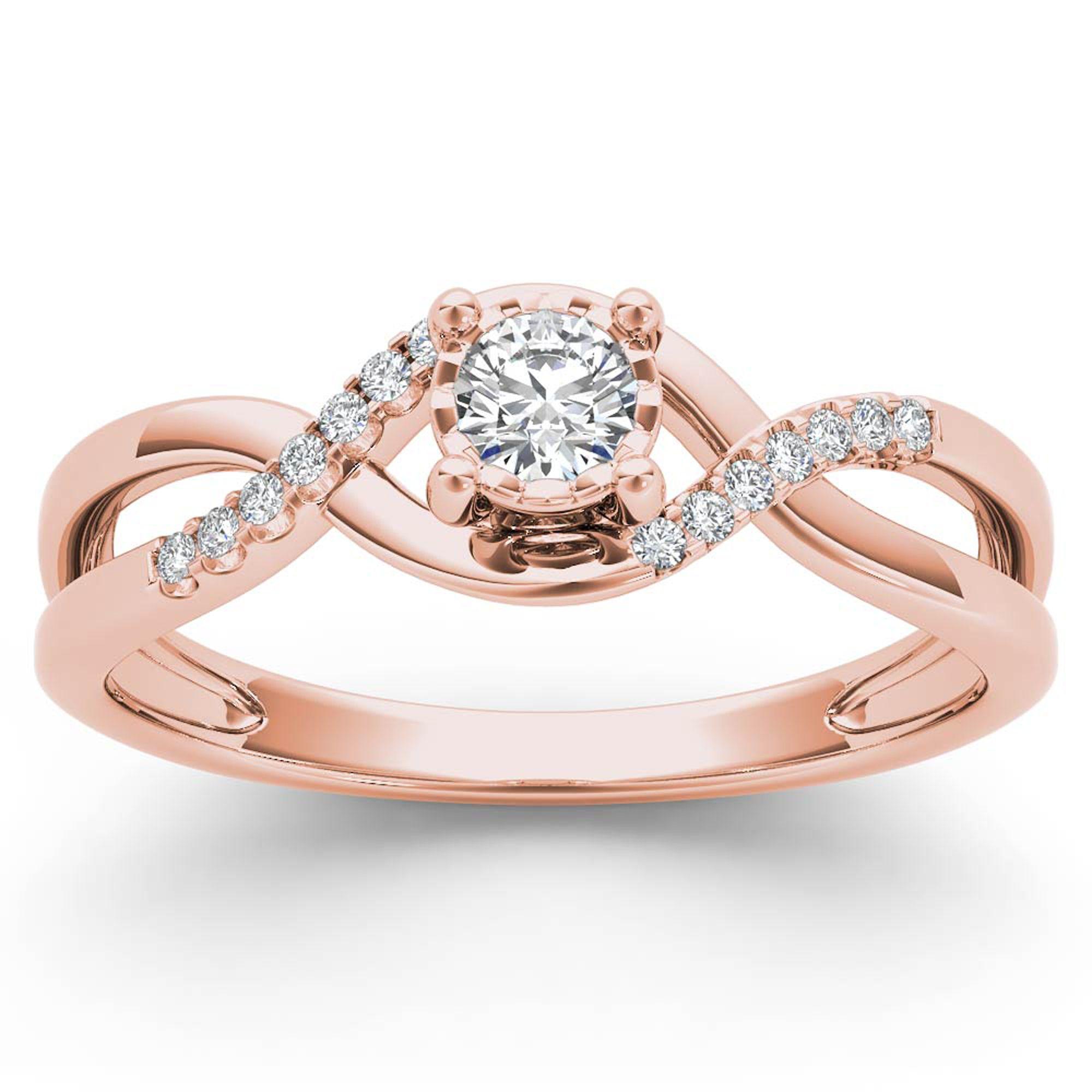 Free 2day shipping. Buy 1/20Ct TDW Diamond 10K Rose Gold