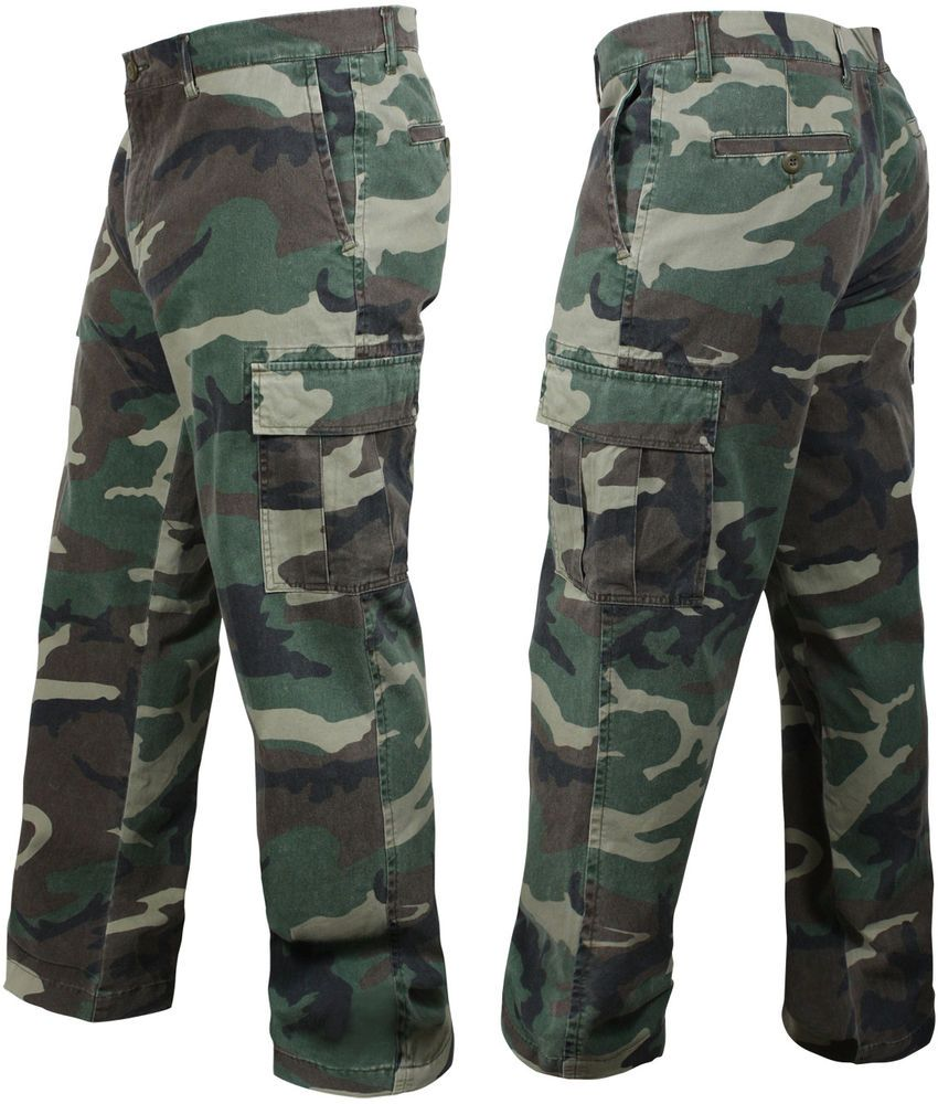 682b4b89385738 Woodland Camo Vintage Cargo BDU Pants Relaxed Flat Front Fatigues Army  Tactical #Rothco #Cargo. Find this Pin and more on Army Navy Store ...