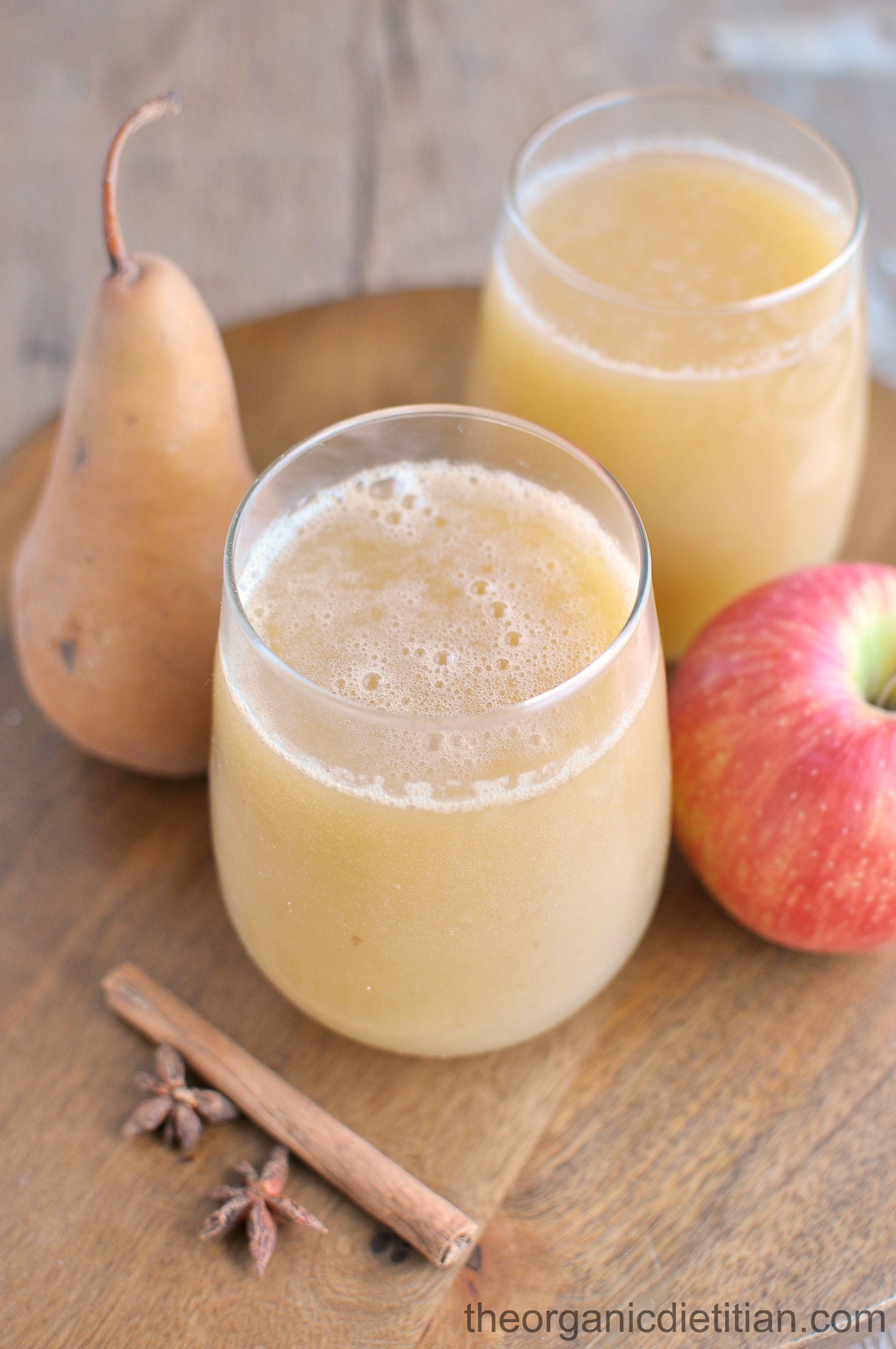 Sparkling Apple Pear Cider (Juicer Recipe) - The Organic Dietitian