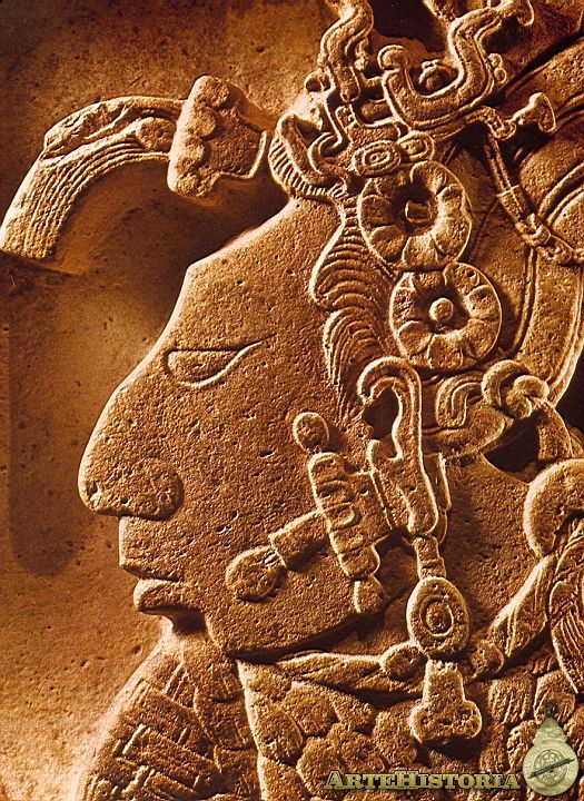 Ancient mayan or south american rock carving art