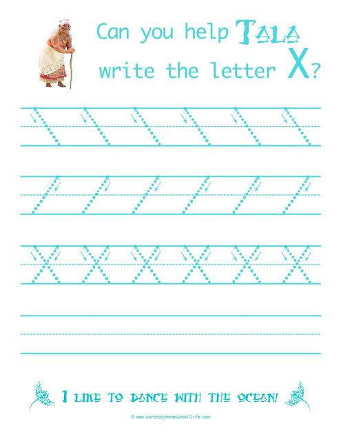Learn To Write With Tala From Moana Weekly Free Moana Handwriting