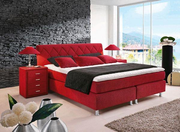 Fantastisch Bugatti Bett BRONZE Stoffbezug Rot #Schlafzimmer #Schlafzimmerideen
