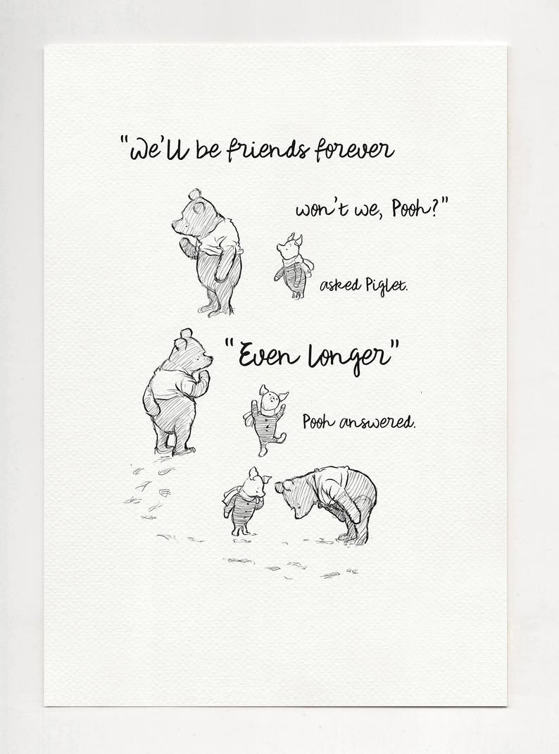 we'll be friends forever won't we pooh winnie the | etsy