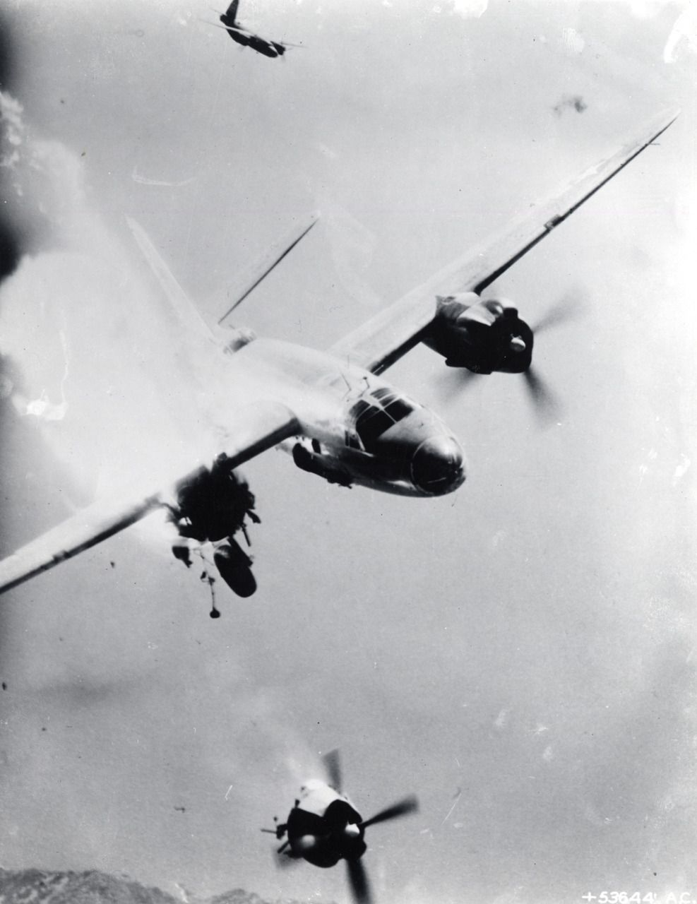 b 26 marauder takes a direct hit looses one engine. Black Bedroom Furniture Sets. Home Design Ideas
