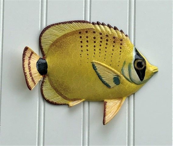 Resin Yellow Seed Tropical Fish Wall Decor. Available in 8in, 12in ...