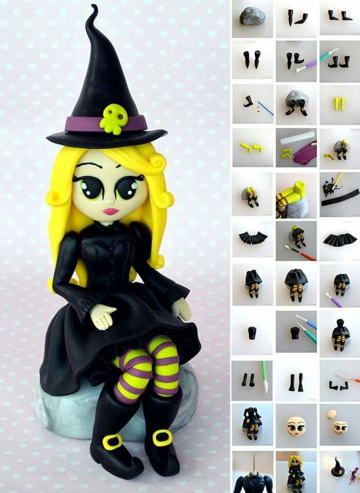 Witch tutorial - For all your Halloween cake decorating supplies, please visit http://www.craftcompany.co.uk/occasions/halloween.html