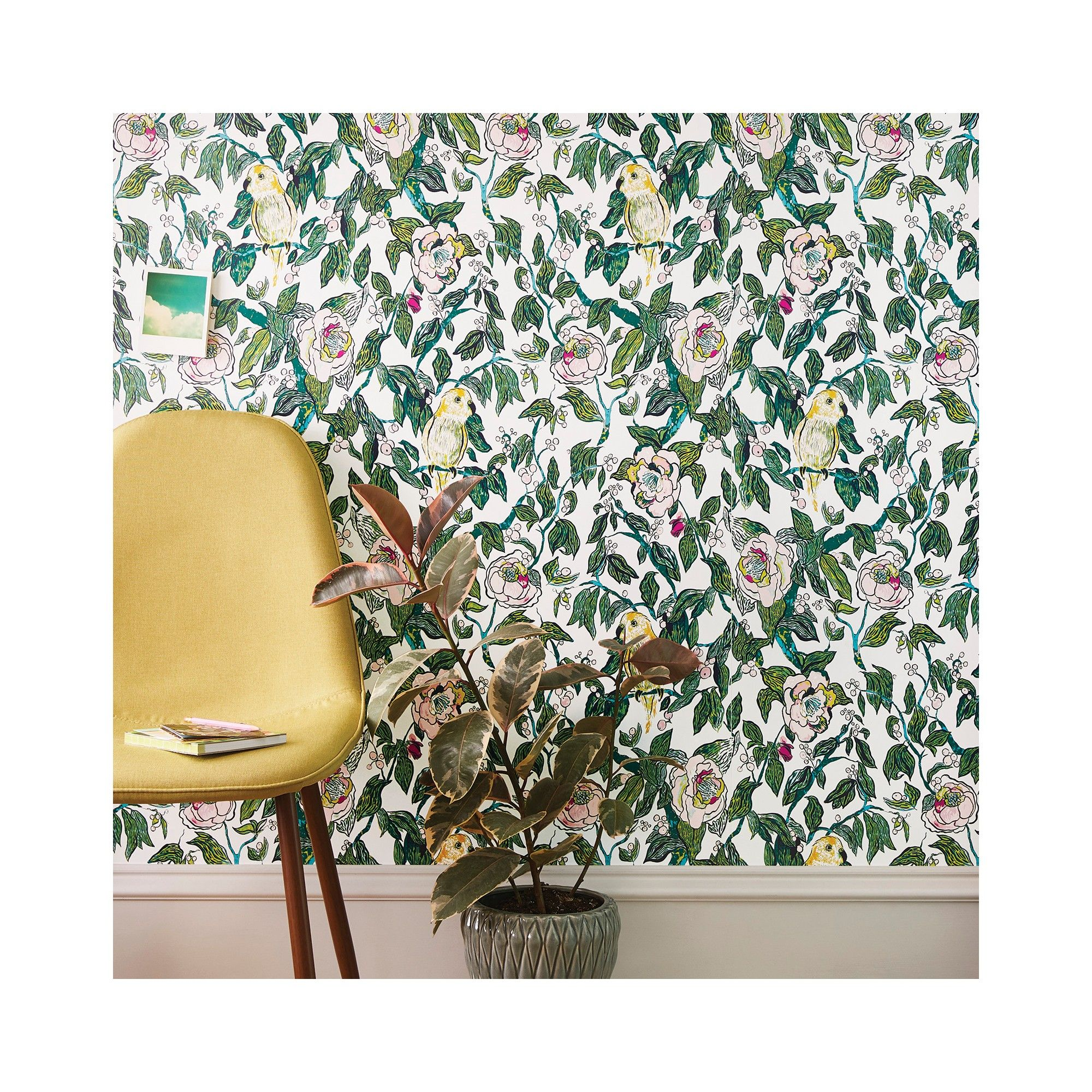 Canary Floral Peel Stick Wallpaper Opalhouse Peel And Stick Wallpaper Removable Wallpaper Floral Wallpaper