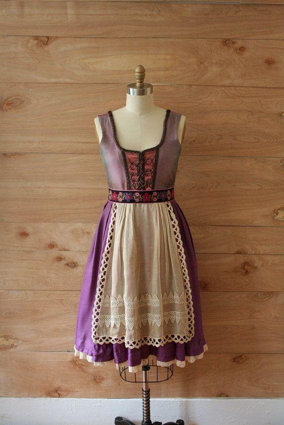 Lovely lilac shades work here. #dirndl #dress #folk #costume #German #clothing #purple