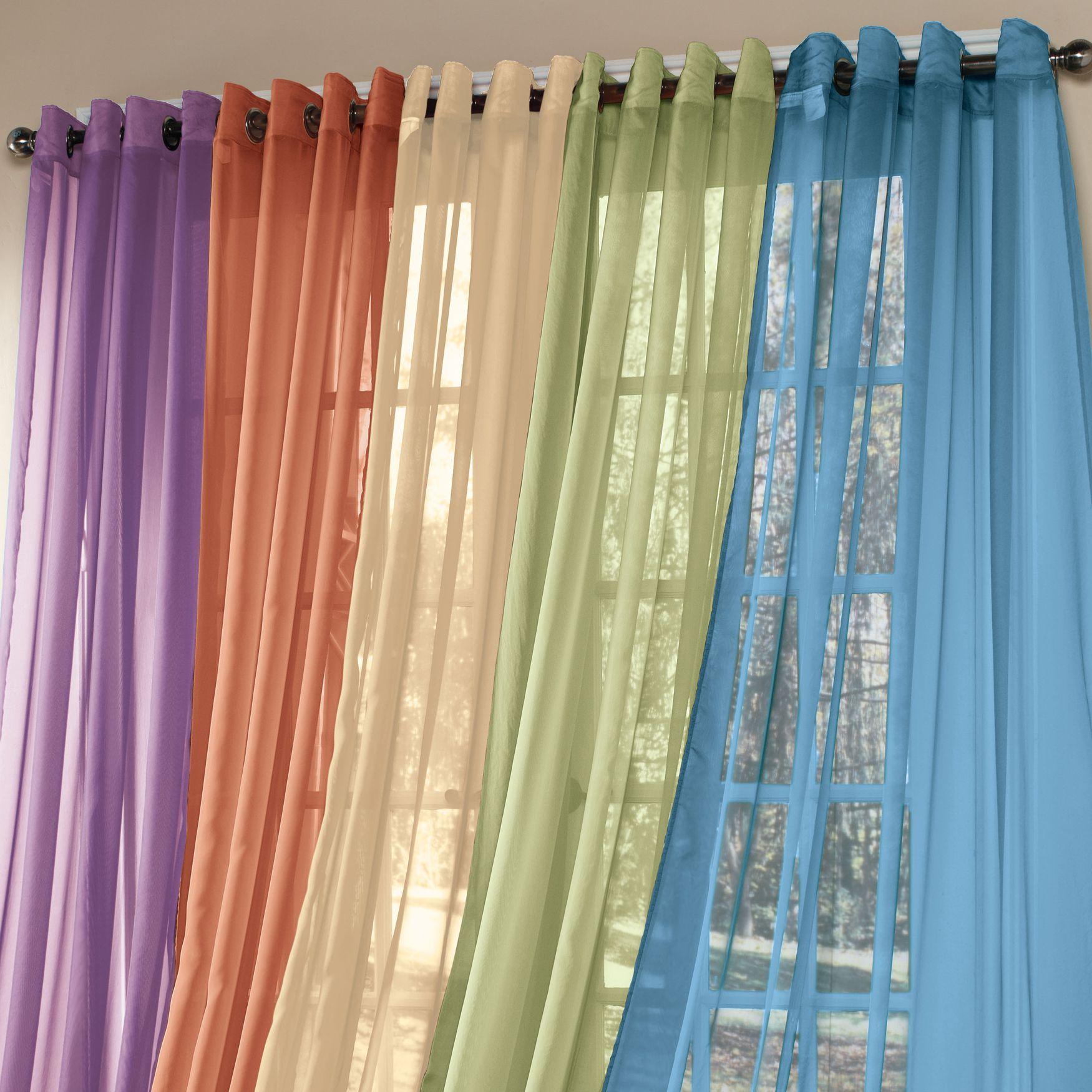 BrylaneHome® Studio Sheer Voile Grommet Panels | Sheer Curtains |  Brylanehome