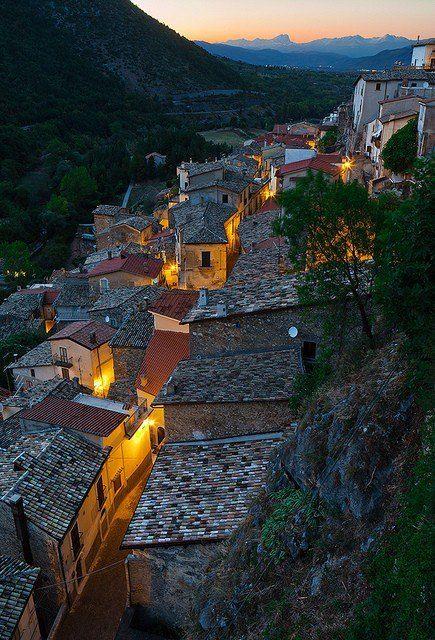 La Toscana, al caer la noche.