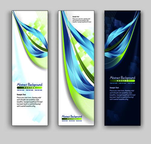 Blue Style Vertical banner vector 02   Graphic Design   Pinterest ...