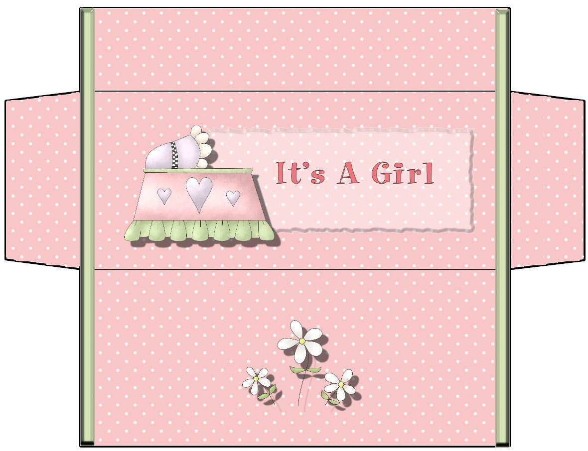 Patty Wraps: Baby Girl Candy Bar Box Crib | Baby Printables ...