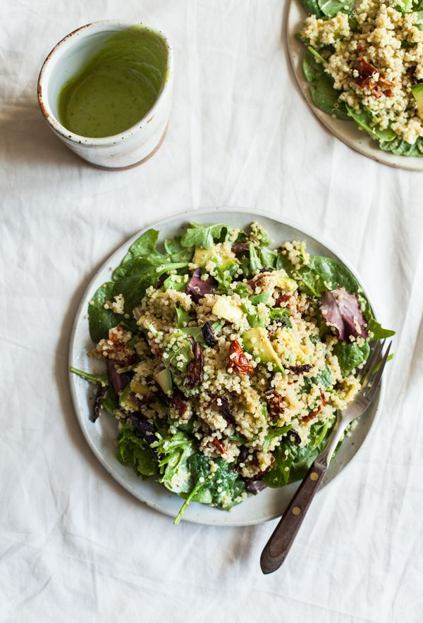 Quinoa Blt Salad With Shiitake Bacon Recipe Blt Salad Salad