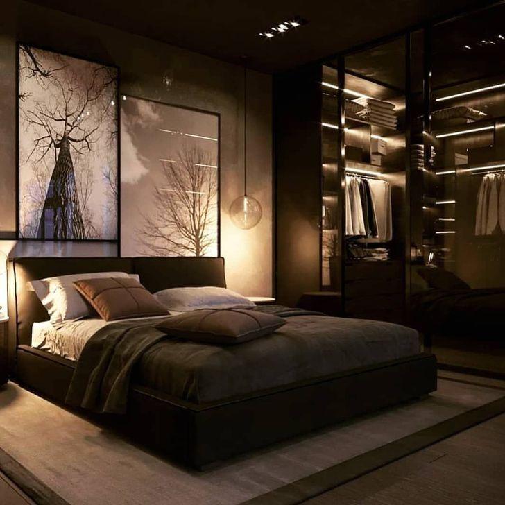 30+ Simple Bedroom Design Ideas For Men, 2020 | Yatak ...