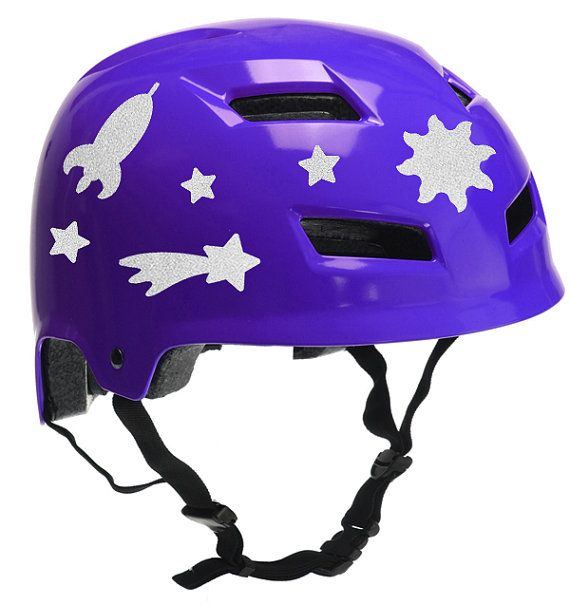 Space Reflective Decal Set Stars Helmet Stickers Rocket - Vinyl stickers for motorcycle helmetsdragon hyper reflective decal motorcycle helmet safety sticker