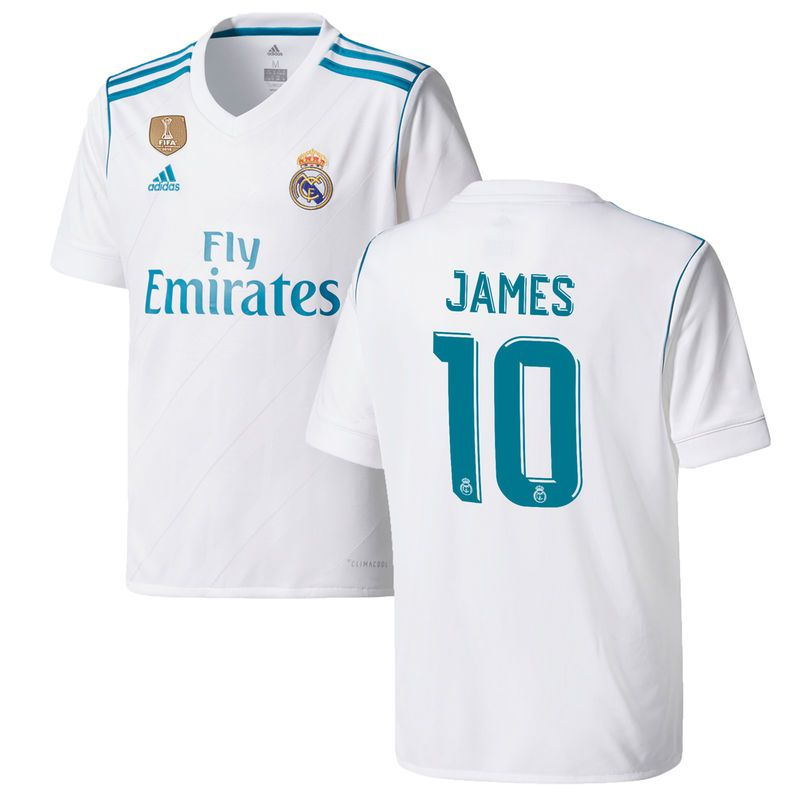 buy popular 0c73a 31ba3 James Rodriguez Real Madrid adidas Youth 2017/18 Home ...
