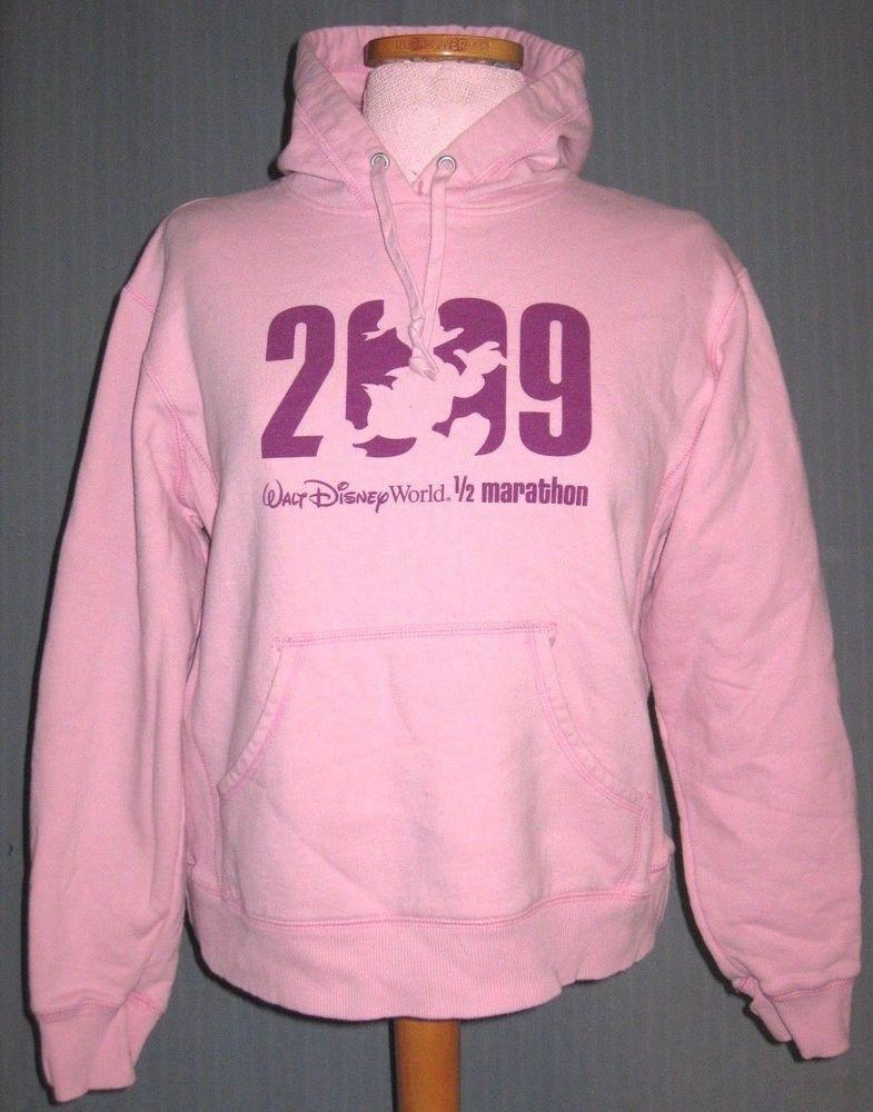 2c47d7d76b22e 2009 Walt Disney World 1/2 Marathon Women's Medium Pink Hoodie ...