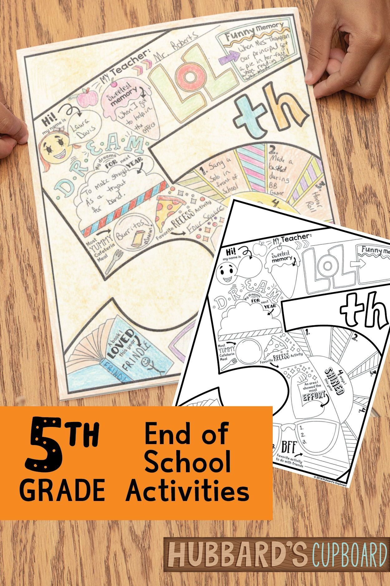 5th grade end of year digital memory book distance