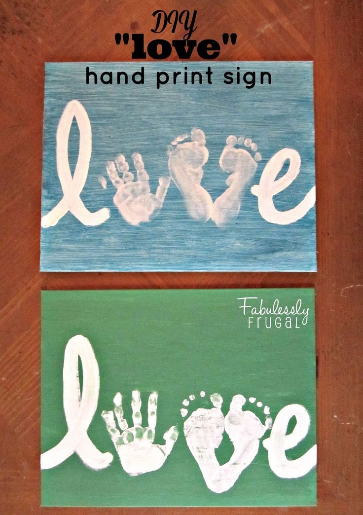 Photo of DIY Love Handprint Sign (Picture Tutorial) – Fabulessly Frugal