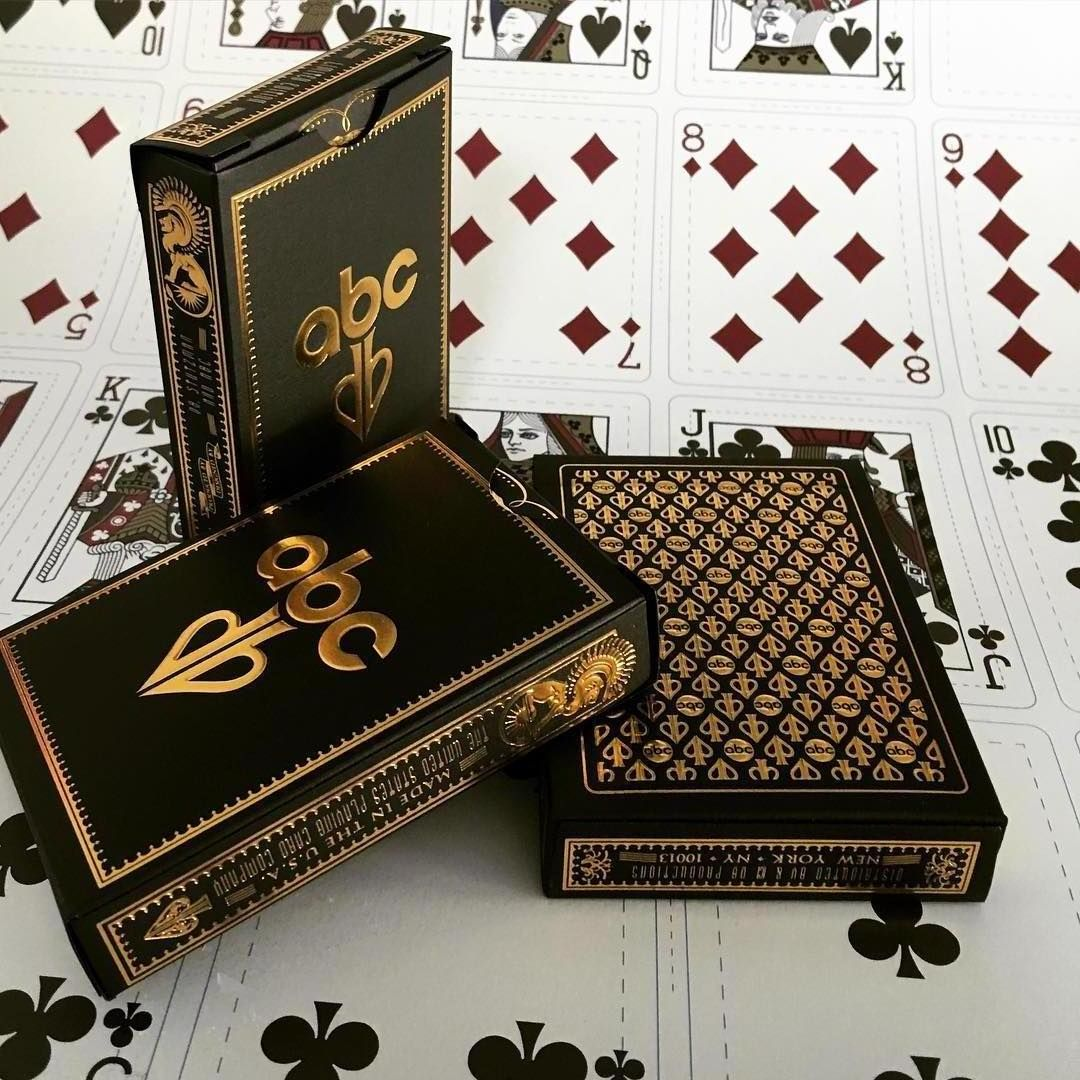 db abc with images  playing cards design custom