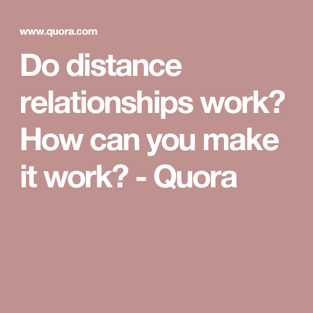 does long distance dating work