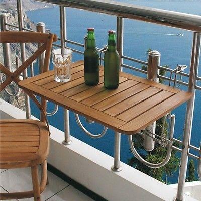 Mesa plegable terraza Madera de Teca colgar en el balcón para