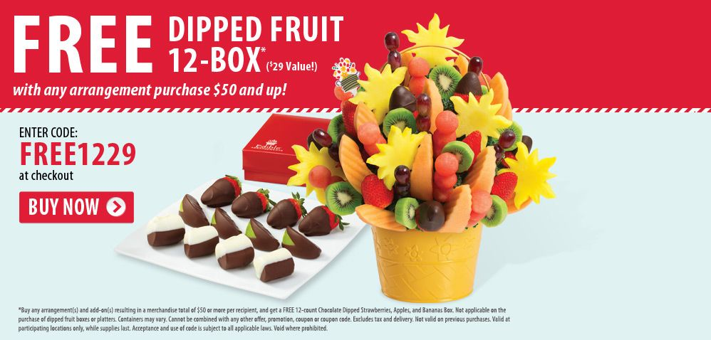 Fruit Dipped Box W 50 Purchase Of Edible Arrangements Coupon Code Edible Arrangements Fruit Dip Edible