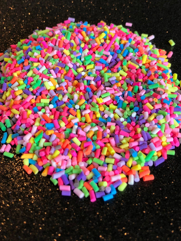 Slime charm,fake sprinkles,sprinkles, kawaii,decoden,polymer