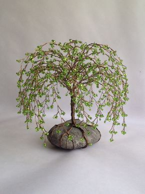 A personal favorite from my Etsy shop https://www.etsy.com/listing/208635547/weeping-willlow-tree-scuplture-beaded