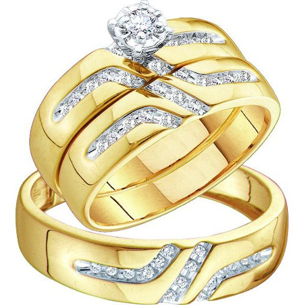 Mens Gold Wedding Bands ovidiamonds Men Women Diamond Wedding