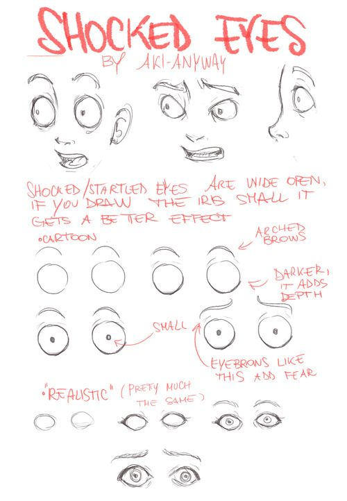Shocked Eyes By Aki Anyway Drawing Expressions Facial