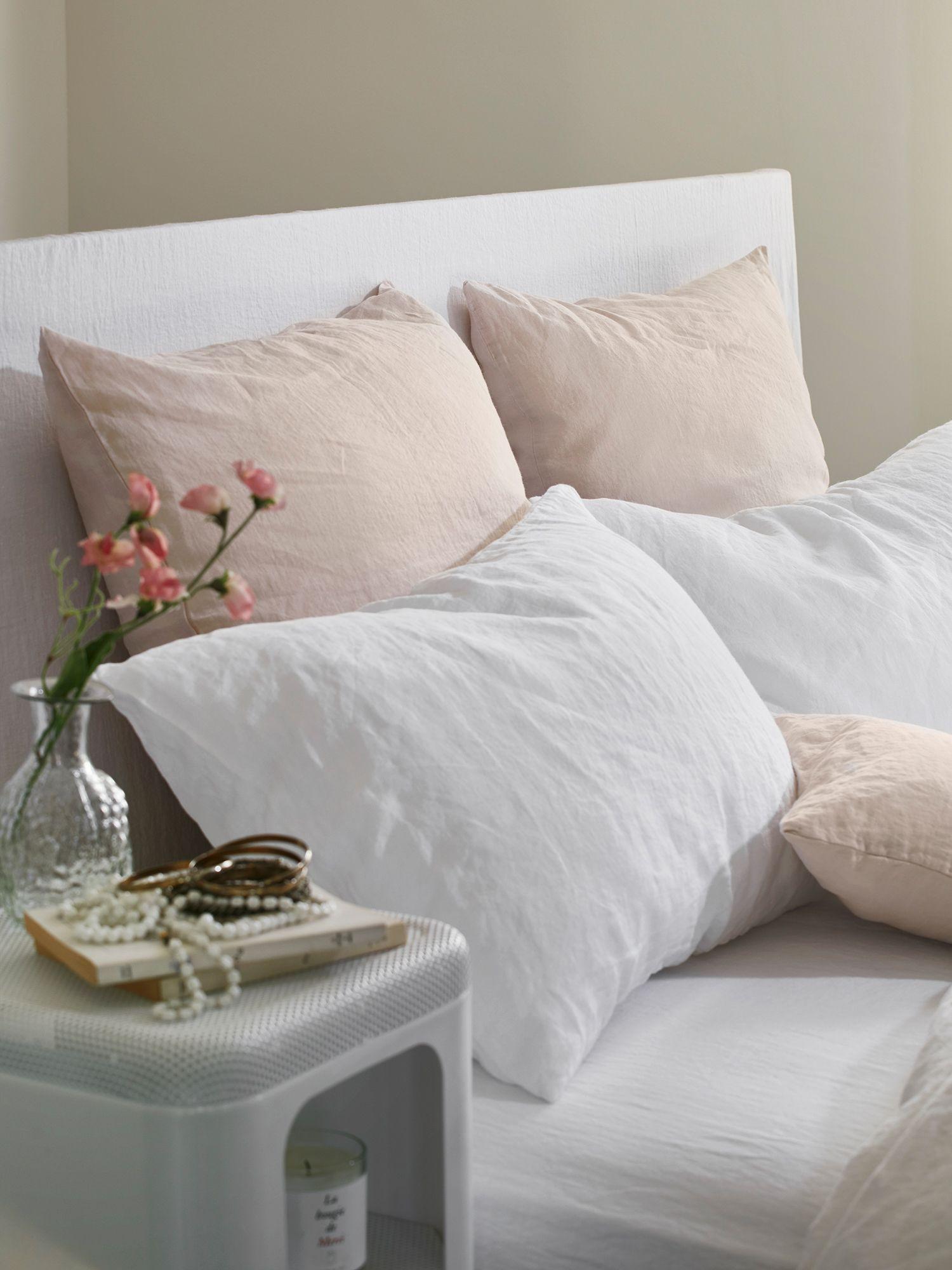 oreiller 65 Le linge de lit en lin lavé et froissé Merci | Taies d'oreiller 50  oreiller 65