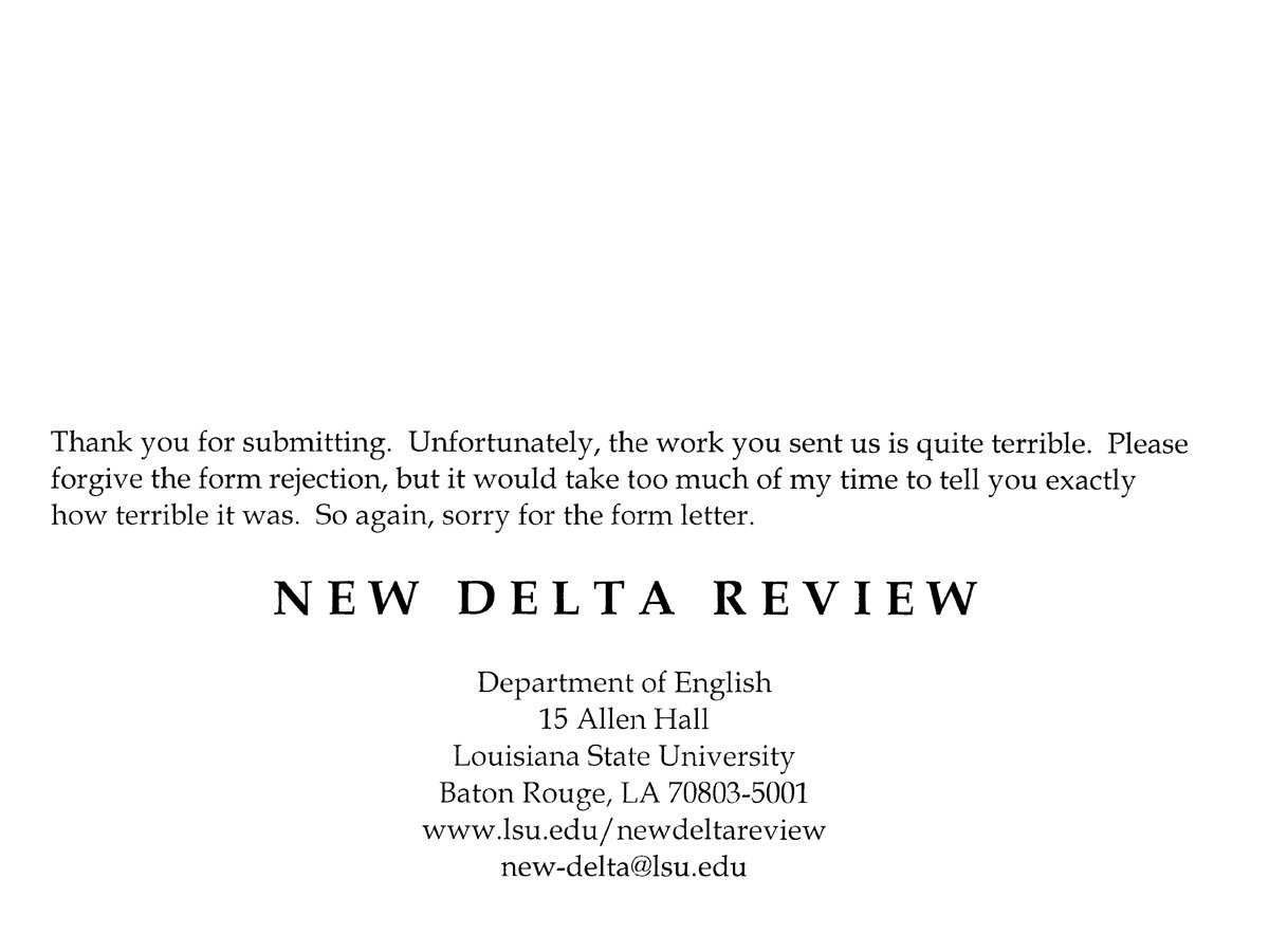 Brutally Honest Job Rejection Letters Business Insider New Delta