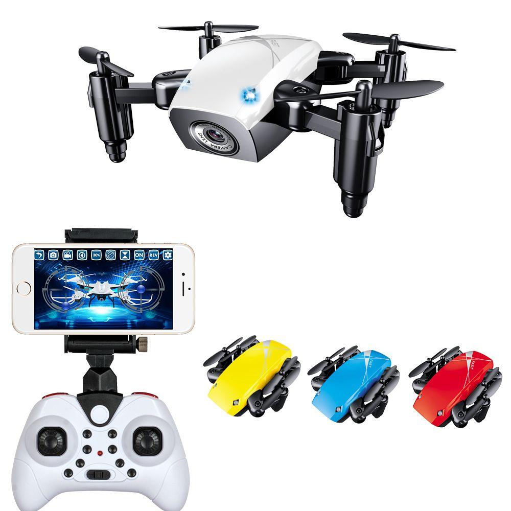 4268e03eef2 WIFI FPV Mini Drone with Camera 2.4G 4CH 6-axis RC Quadcopter Nano Drone RC  WIFI FPV Drone Phone Control Toy